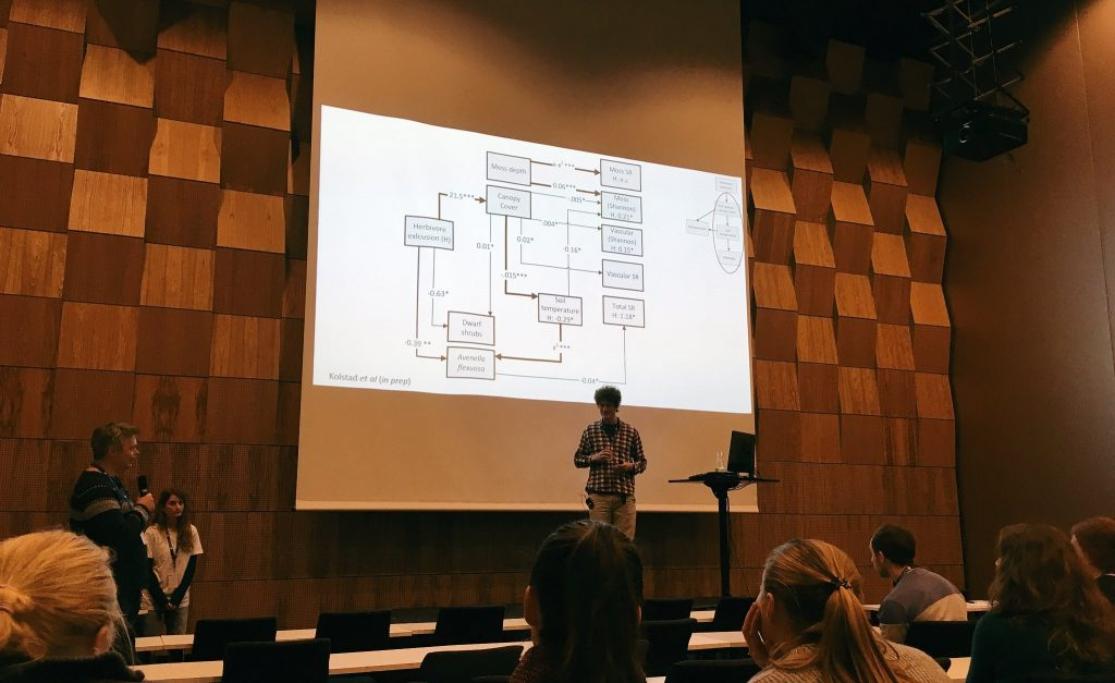 Anders gave an enlightening talk about the effect of moose on forest structure