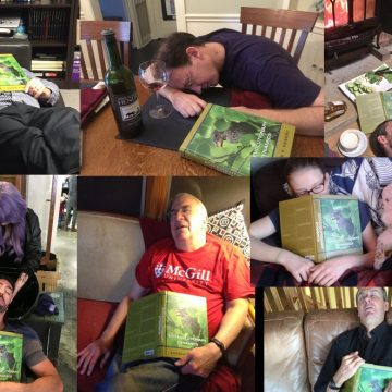 Some of the many academics who fell asleep reading Andrew's book (Photo Credit: Andrew Hendry)