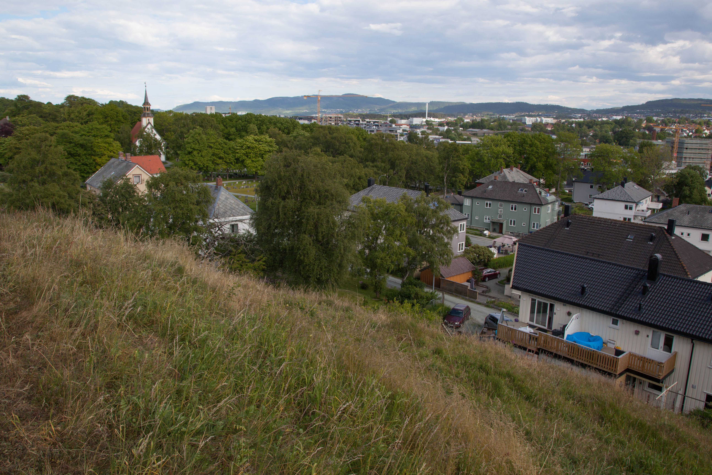 Grønlia på Lade, med utsikt mot City Lade