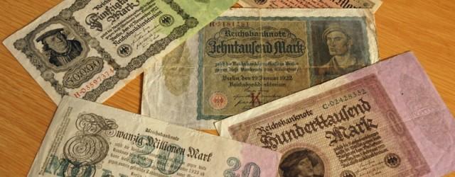 """Det klassiske eksempelet på en såkalt hyperinflasjon finner vi i Tyskland etter 1. verdenskrig. Den tyske stat hadde et enormt behov for penger for å dekke underskuddet etter krigen og <a href=""""https://blogg.vm.ntnu.no/sansogsamling/2011/06/16/tyske-n%c3%b8dsedler/#more-'"""" class=""""more-link"""">more »</a>"""